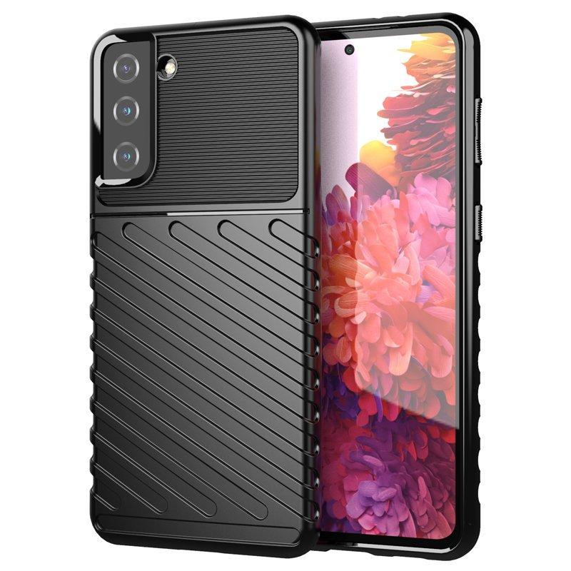 Thunder silikónové puzdro pre Samsung Galaxy S21 PLUS 5G black