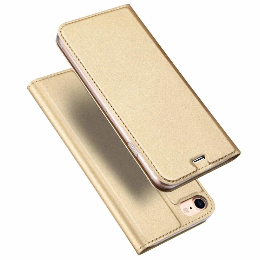 DUX DUCIS Skin knížkové pouzdro iPhone SE 2020 iPhone 8 / iPhone 7 golden