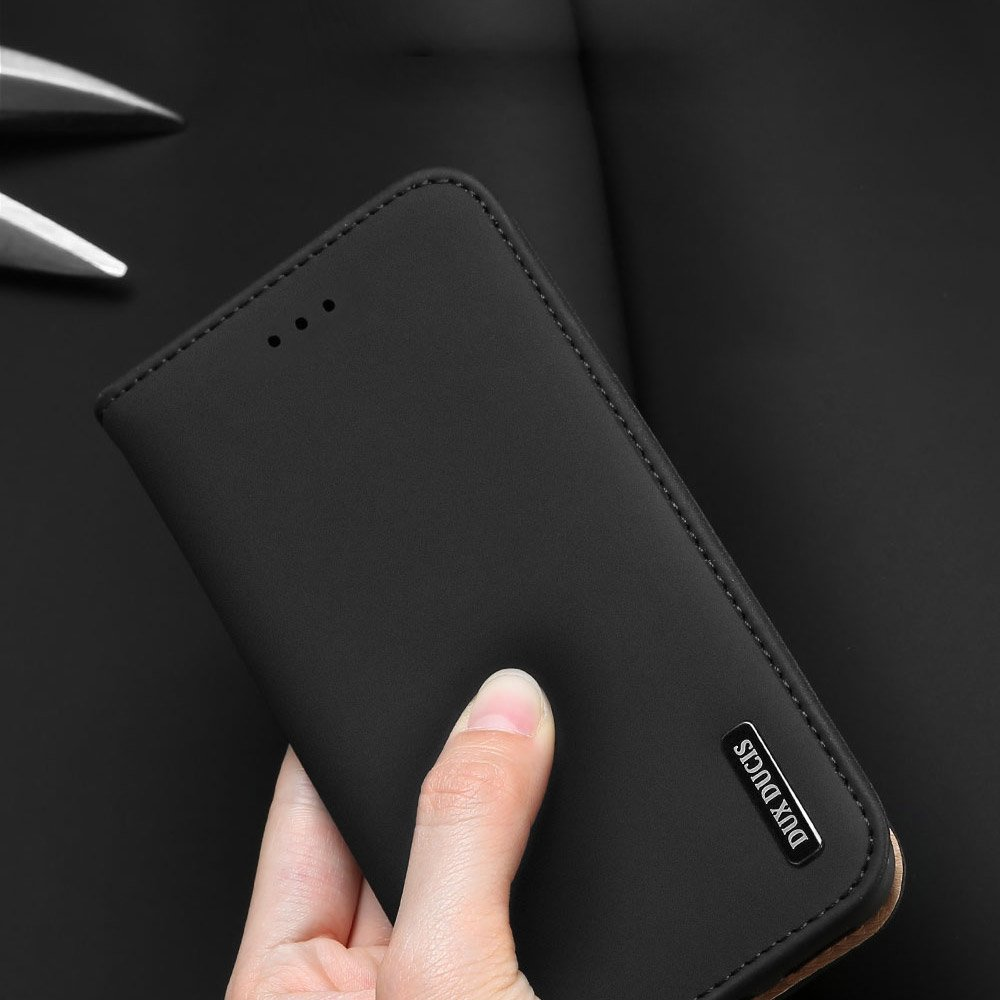 DUX DUCIS Wish kožené pouzdro pro Samsung Galaxy S10 Plus red