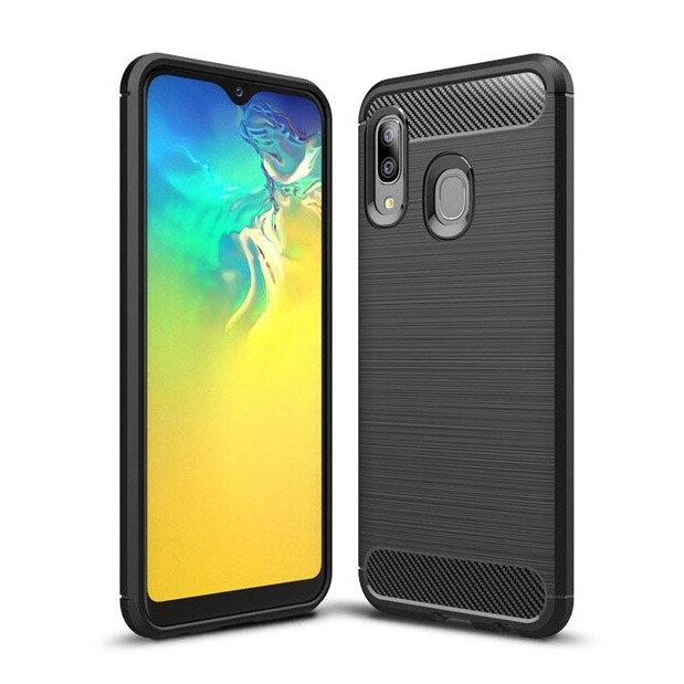 Carbon silikonové pouzdro Samsung Galaxy A20e black