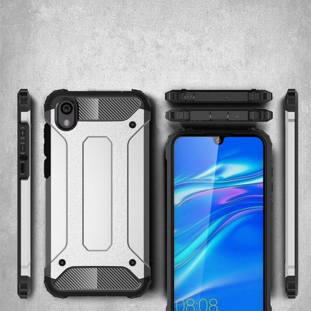 Hybrid polykarbonátové pouzdro Huawei Y5 2019 / Honor 8S silver