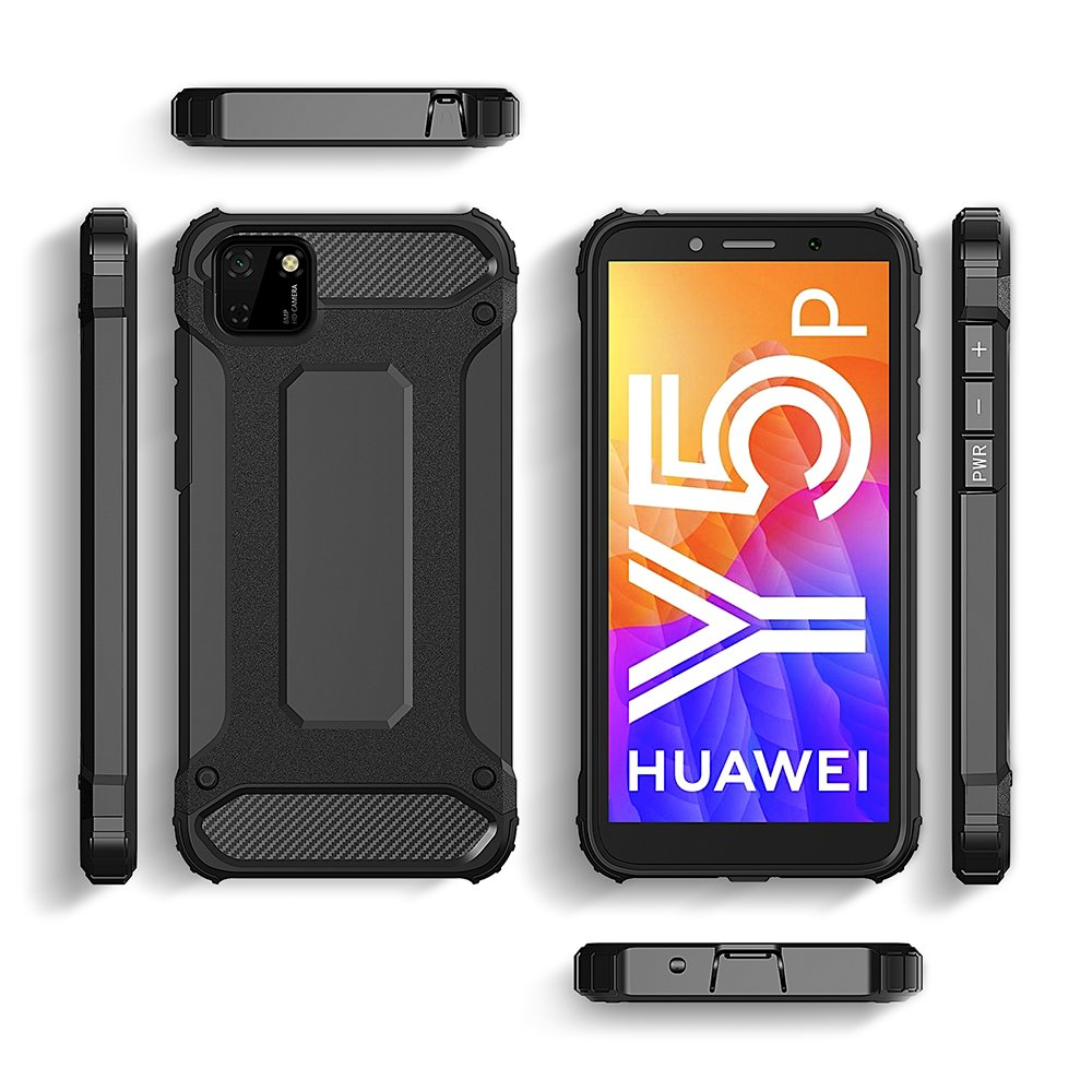 Hybrid pancéřové polykarbonátové pouzdro na Huawei Y5p black