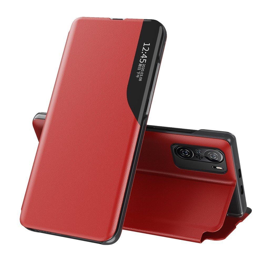 Knížkové puzdro s imitáciou kože pre Xiaomi Poco F3 / Mi 11i red