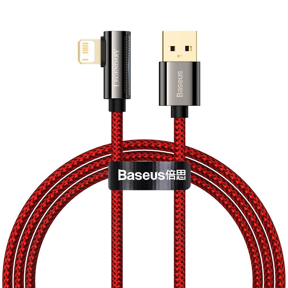 Baseus Legend extra odolný nylonem opletený kábel USB / Lightning 2.4A 1m red