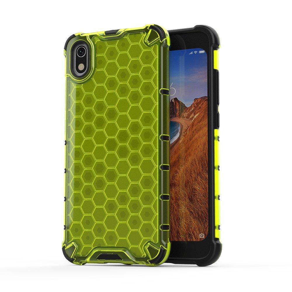Honeycomb panceřové pouzdro se silikonovým rámem pro Xiaomi Redmi 7A green
