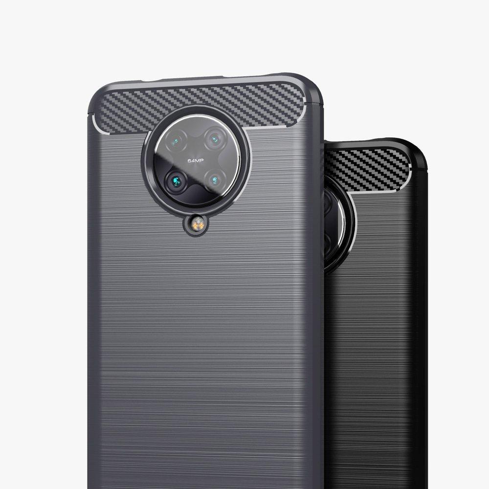 Carbon silikonové pouzdro na Xiaomi Poco F2 Pro black