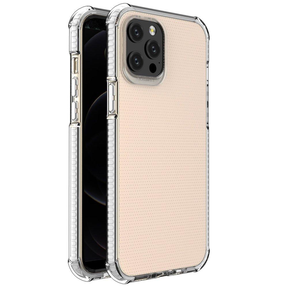 """Spring Armor silikonové pouzdro s barevným lemem na iPhone 12 Pro Max 6,7"""" white"""
