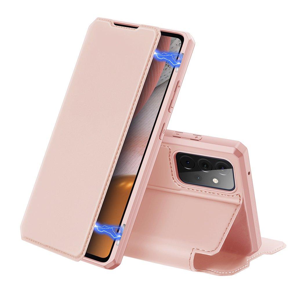 DUX DUCIS Skin X knížkové pouzdro na Samsung Galaxy A72 / A72 5G pink
