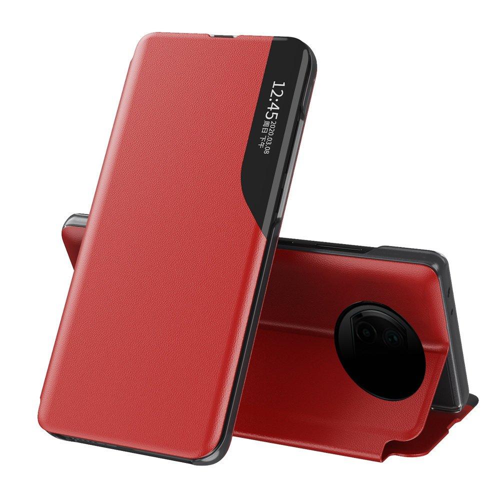 Knížkové puzdro s imitáciou kože preXiaomi Redmi Note 9T 5G red