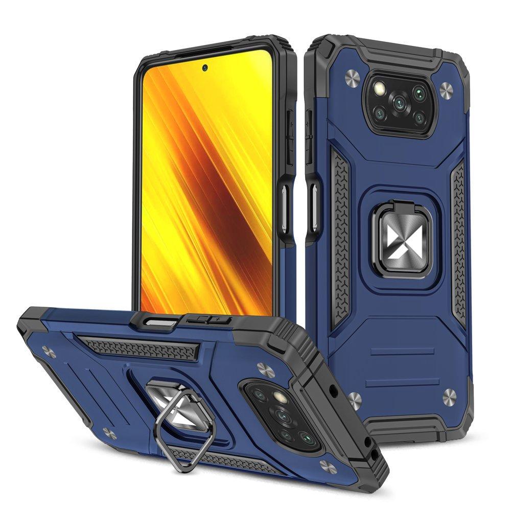 Wozinsky Hybrid pancierové púzdro s krúžkom pre Poco X3 Pro / Poco X3 NFC blue