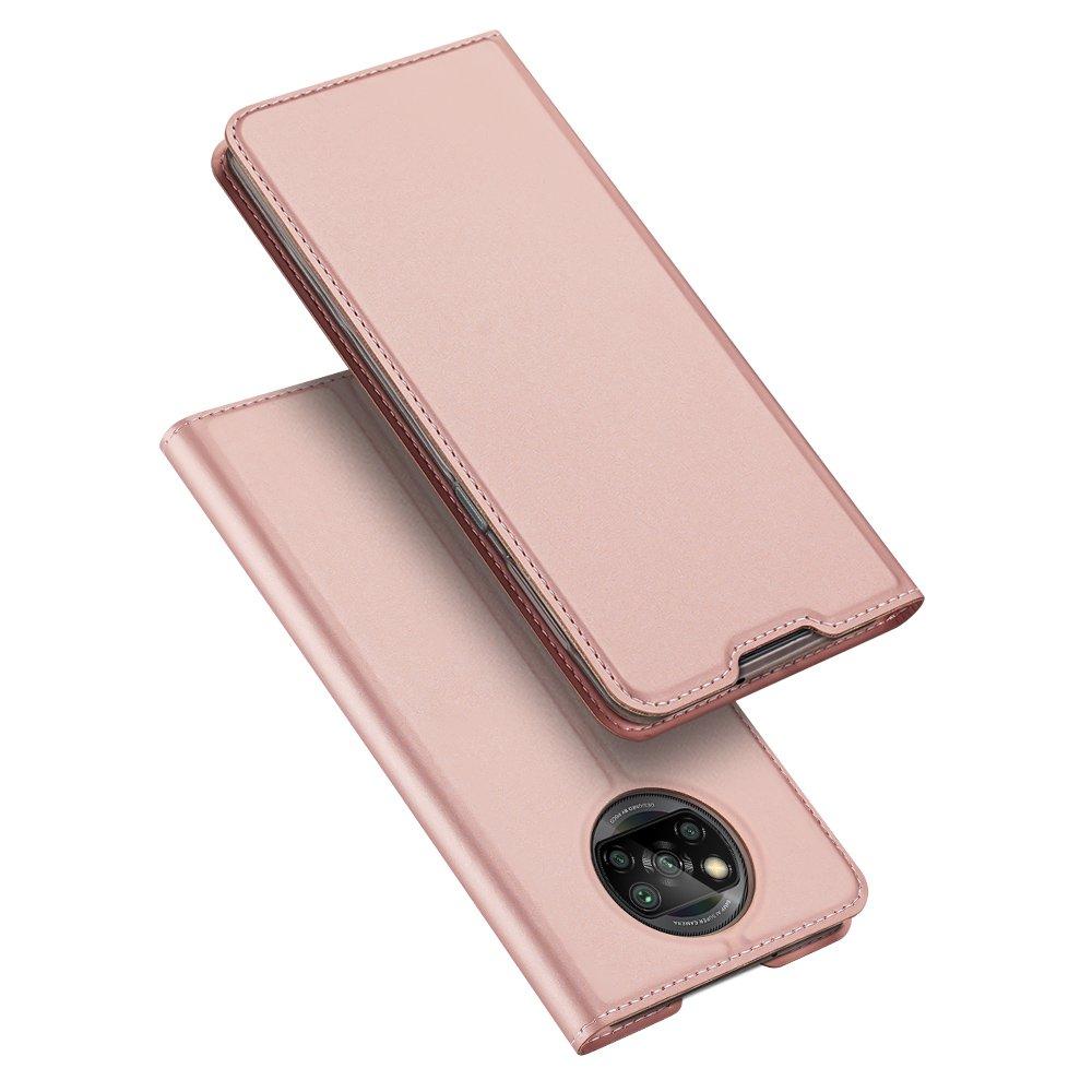 DUX DUCIS Skin knížkové púzdro pre Xiaomi Poco X3 Pro / X3 NFC pink