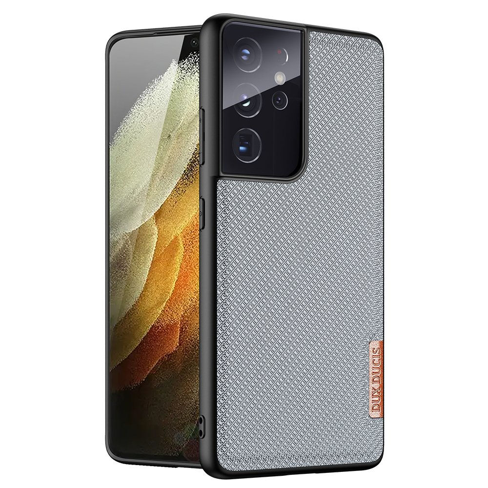 Luxusní pouzdro Dux Ducis Fino Nylon ,  Samsung Galaxy S21 Ultra 5G , modrá 6934913053140