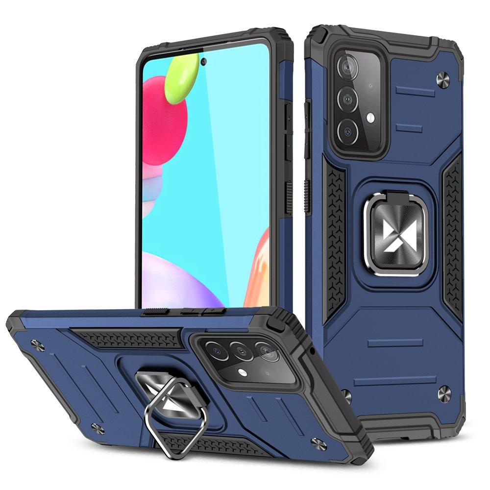 Wozinsky Hybrid pancierové púzdro s krúžkom pre Samsung Galaxy A52 blue