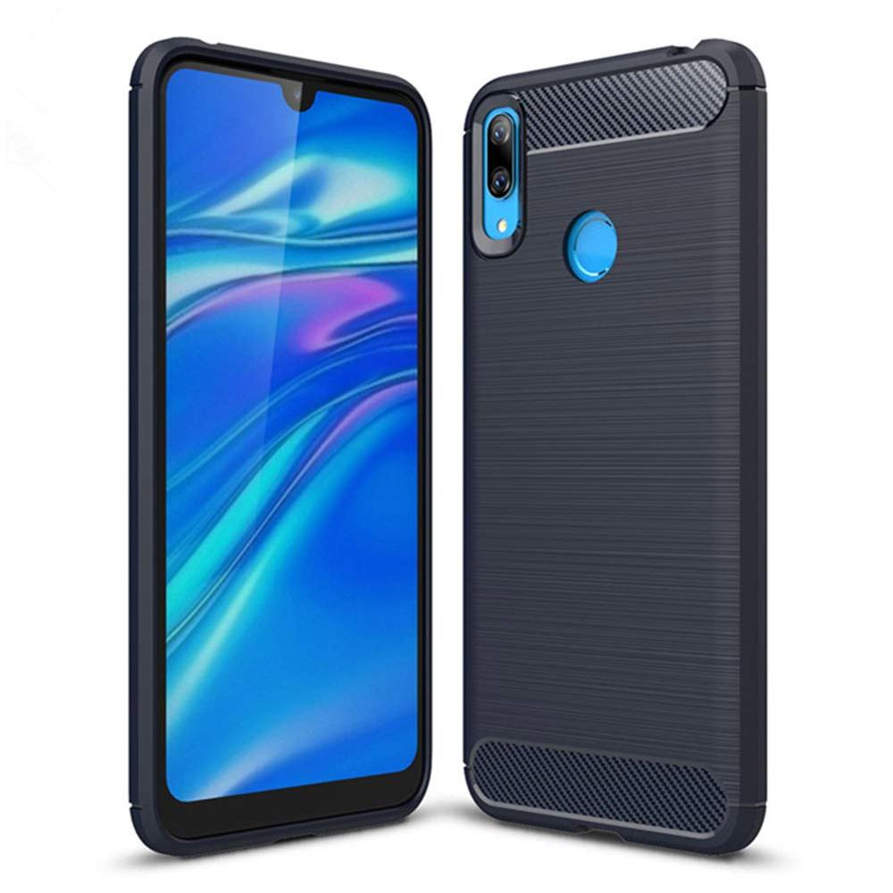 Carbon Case silikonové pouzdro na Huawei Y7 2019 / Y7 Prime 2019 blue