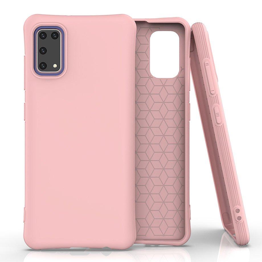 Soft Color silikónové púzdro pre Samsung Galaxy A41 Pink
