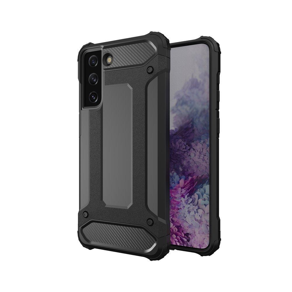 Hybrid pancierové polykarbonátové púzdro pre Samsung Galaxy S21 PLUS 5G black