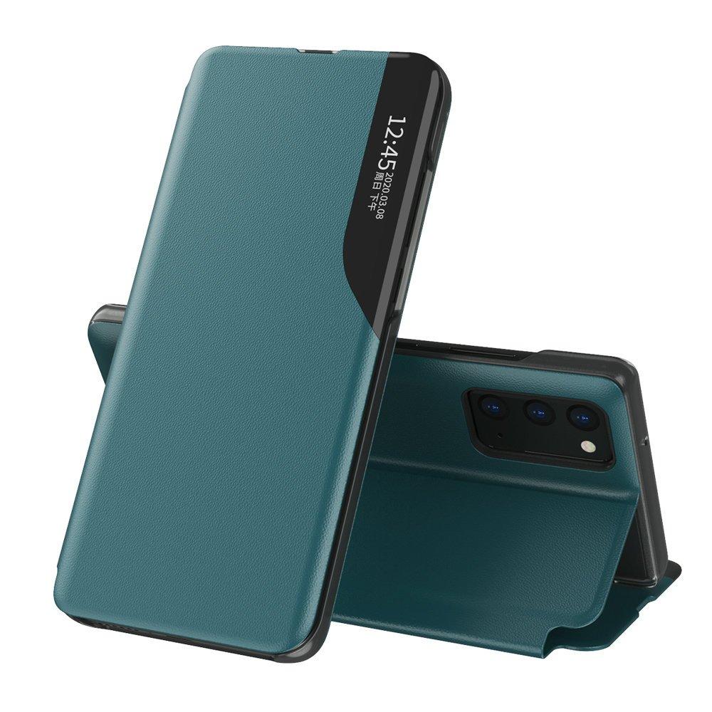 Knížkové puzdro s imitáciou kože pre Samsung Galaxy A72 green