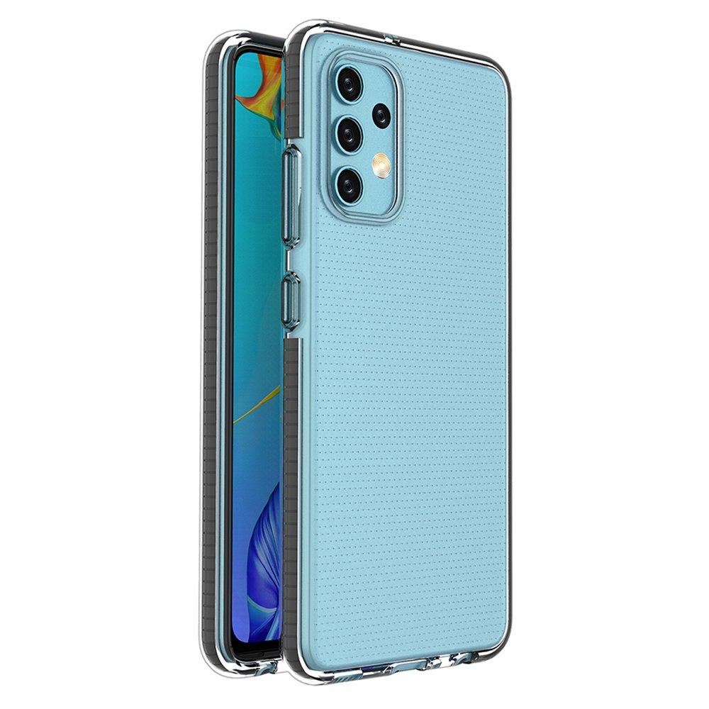 Spring silikonové pouzdro s barevným lemem na Samsung Galaxy A32 4G black