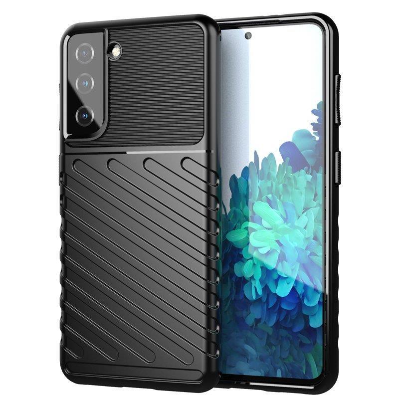 Thunder silikónové puzdro preSamsung Galaxy S21 FE 5G black