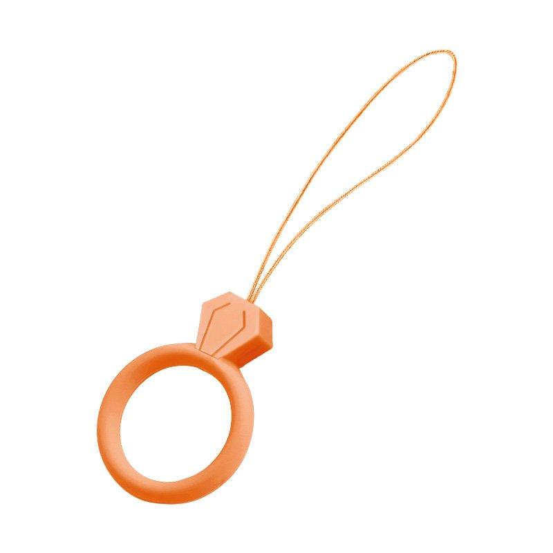 Silikonový kroužek držák na mobil diamant orange