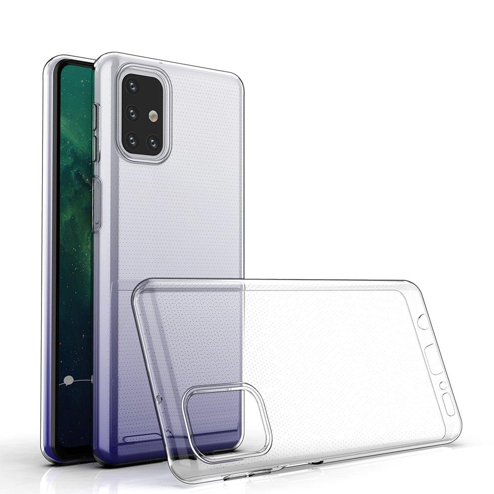 Ultra Clear 0.5mm silikonové pouzdro naSamsung Galaxy M31s transparent