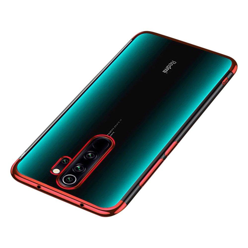 Color Electroplating silikónové puzdro pre Xiaomi Redmi 9 red