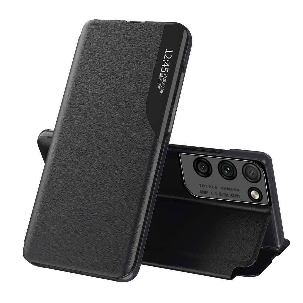 Flipové pouzdro Eco Leather View Case Samsung Galaxy S21 Ultra 5G , černá 9111201925137