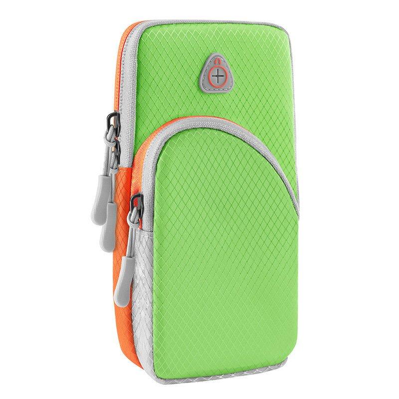 Běžecké pouzdro pro mobil na ruku, univerzální , zelená 9111201926202