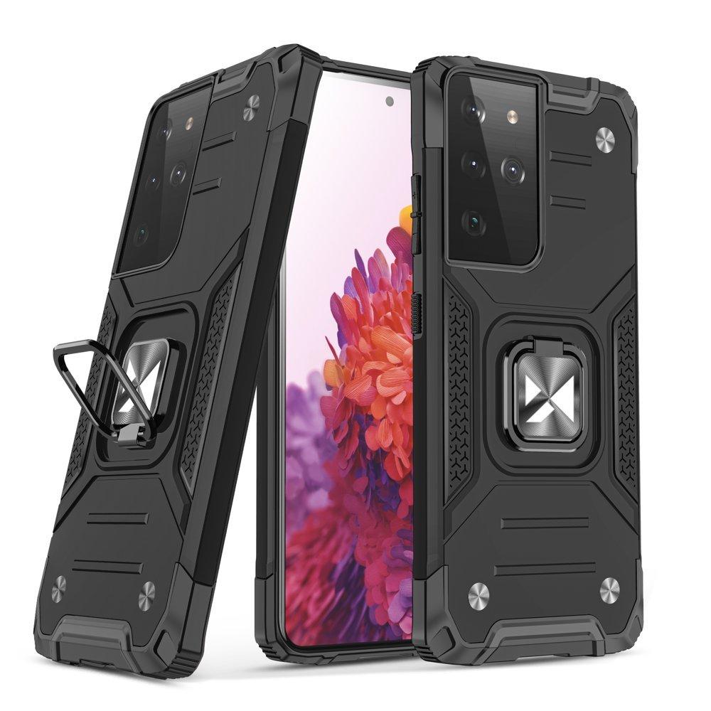 Wozinsky Hybrid pancierové púzdro s krúžkom preSamsung Galaxy S21 ultra 5G black