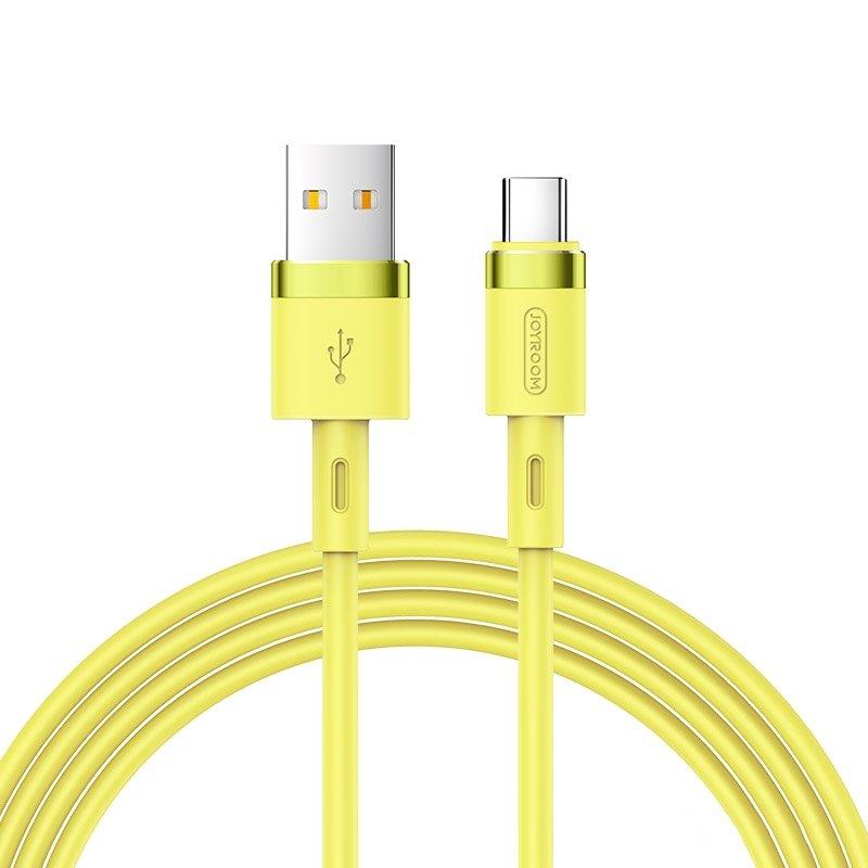 Joyroom S-1224N2 odolný silikonový kabel USB / USB-C 2,4A 1,2m yellow