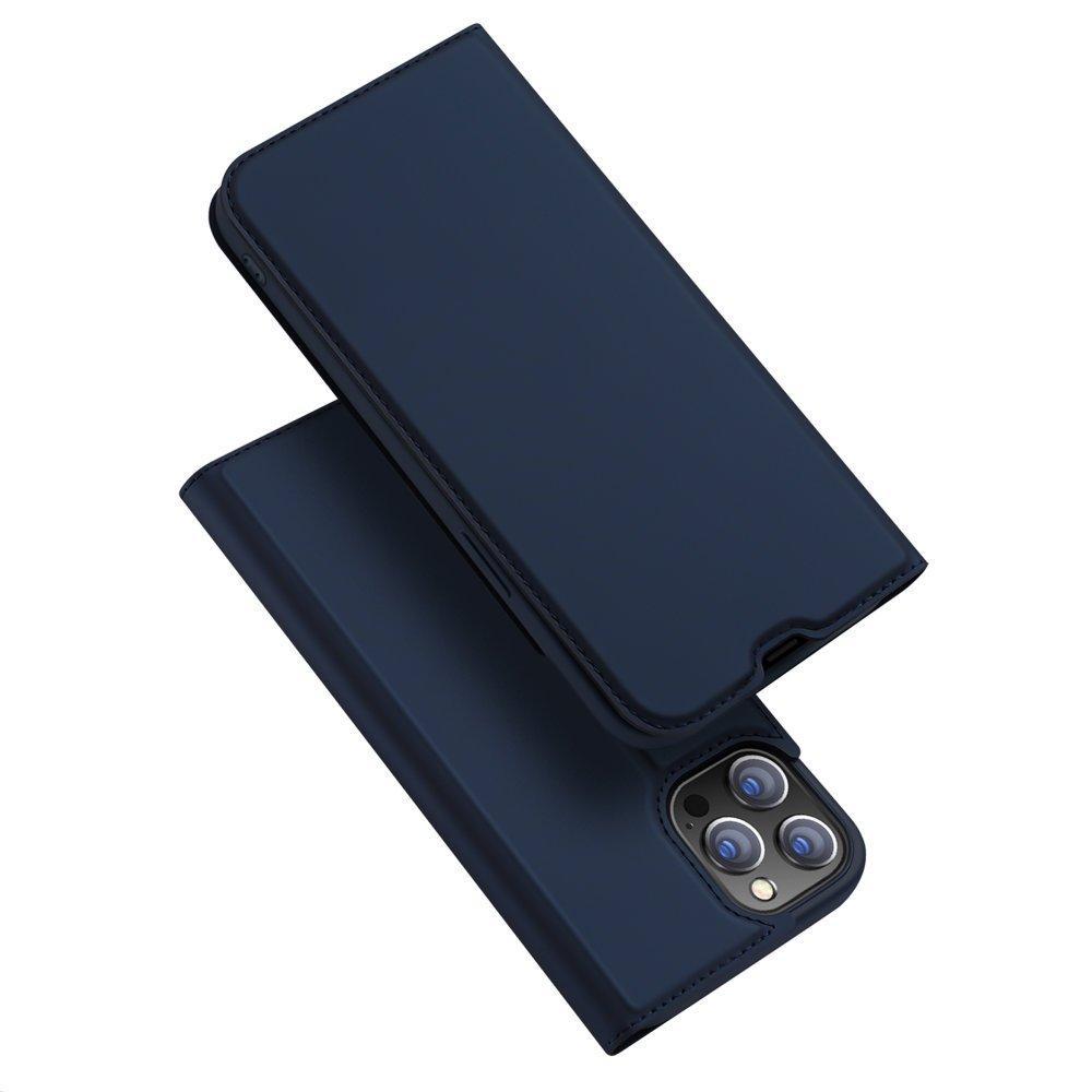 "DUX DUCIS Skin knížkové pouzdro naiPhone 13 Pro MAX 6.7"" blue"