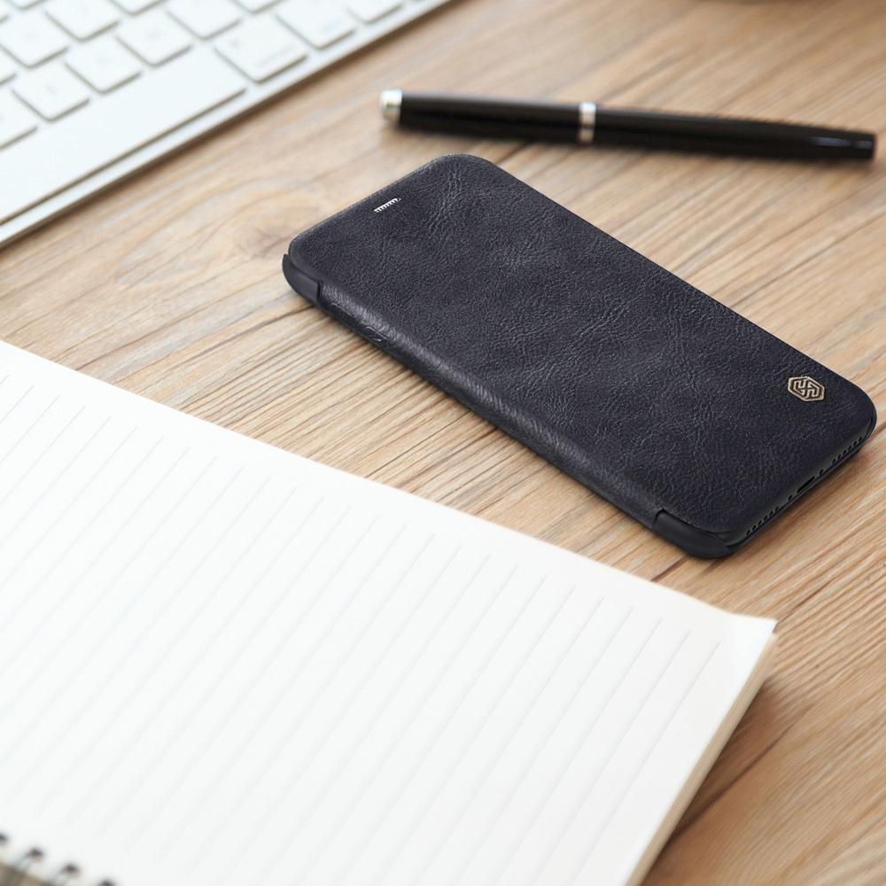 Nillkin Qin knížkové pouzdro na iPhone XS / X black