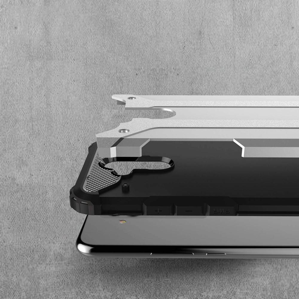 Hybrid pancéřové polykarbonátové pouzdro na Huawei Mate 20 Lite silver