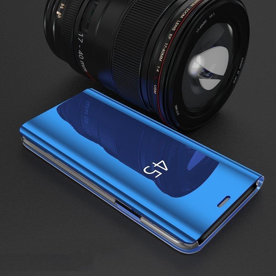 Knížkové pouzdro na Huawei P30 Lite blue s průhlednou přední stranou