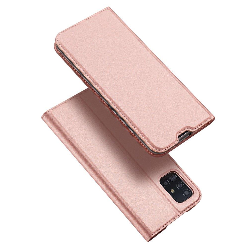 DUX DUCIS Skin knížkové pouzdro na Samsung Galaxy A51 pink