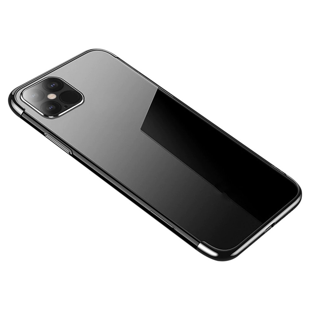 "Color Electroplating silikonové pouzdro na iPhone 12 Mini 5.4"" black"