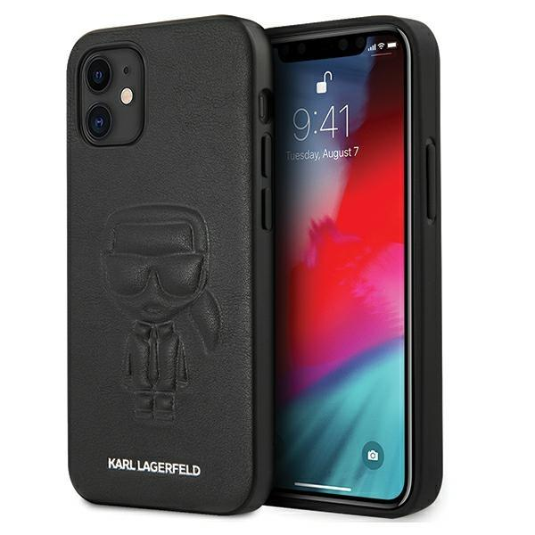 "Karl Lagerfeld KLHCP12SPCUIKBKhard silikónové púzdro iPhone 12 Mini 5,4"" black Karl Ikonik outline"