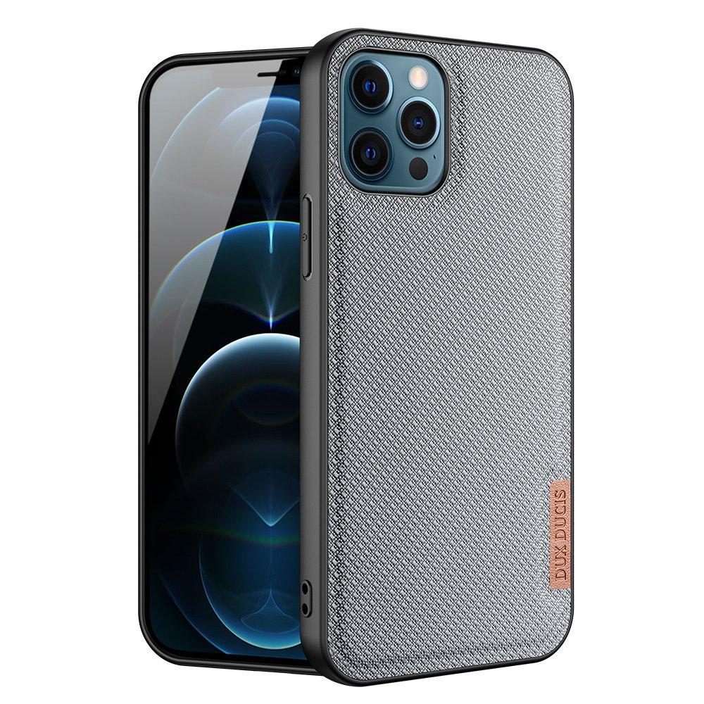 Luxusní pouzdro Dux Ducis Fino Nylon ,  iPhone 12 Pro / iPhone 12 , modrá 6934913055700