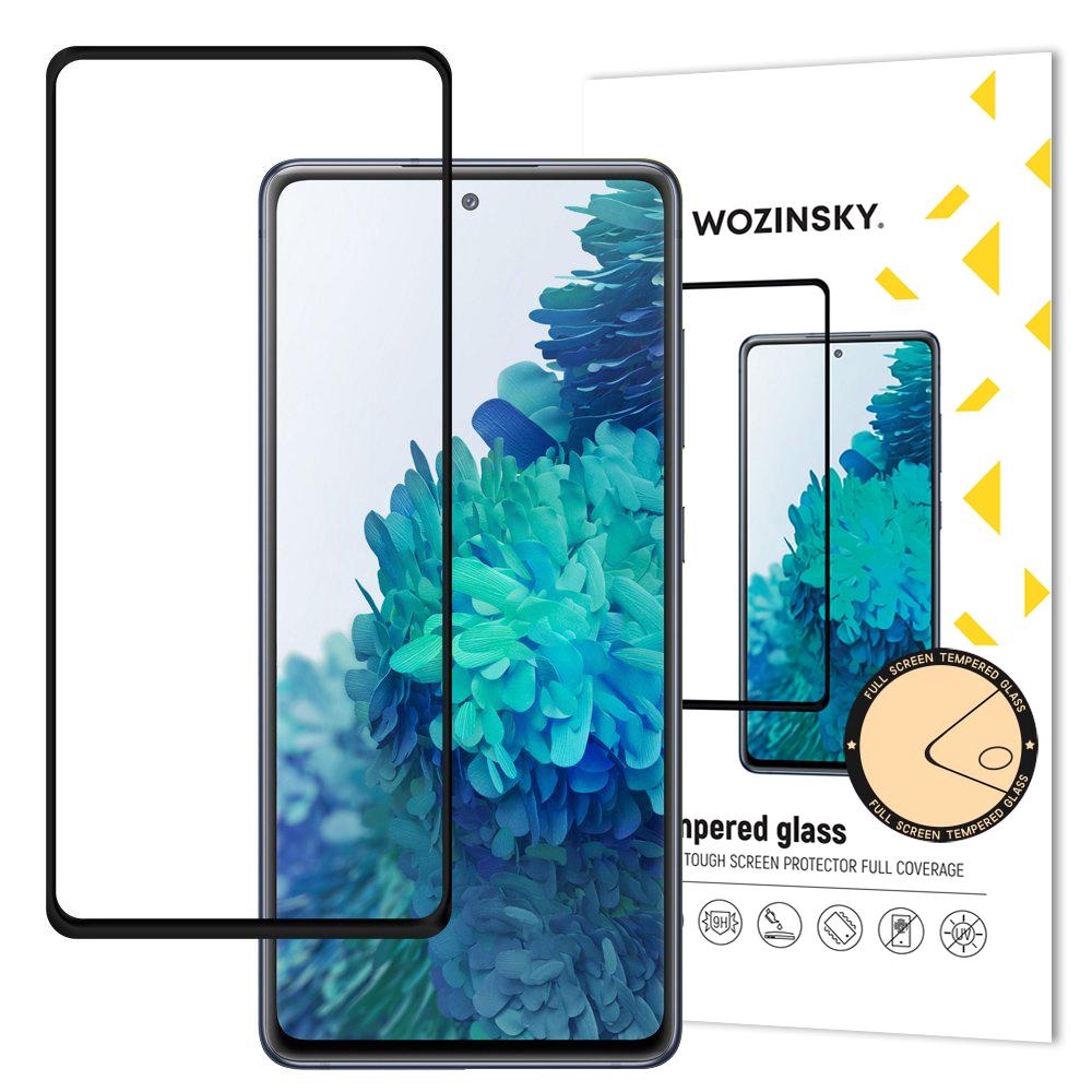 Wozinsky Celoplošně lepené temperované tvrzené sklo 9H na Samsung Galaxy A52 / A52 5G black