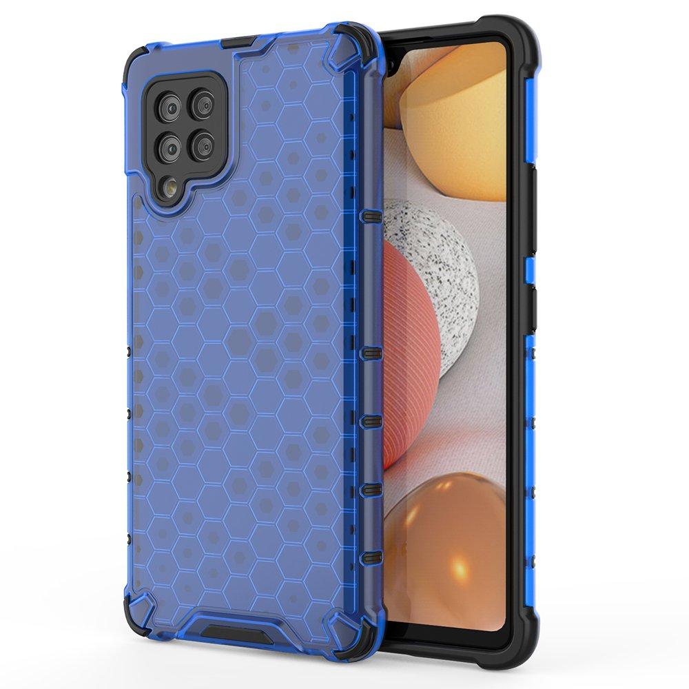 Honeycomb pancéřové pouzdro se silikonovým rámem pro Samsung Galaxy A42 5G blue