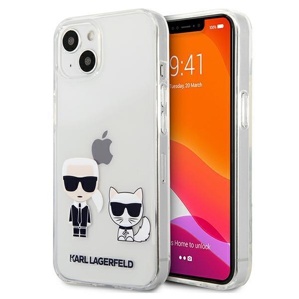 """Karl Lagerfeld KLHCP13MCKTR iPhone 13 6,1 """"tvrdý obal priehľadný Karl & Choupette"""