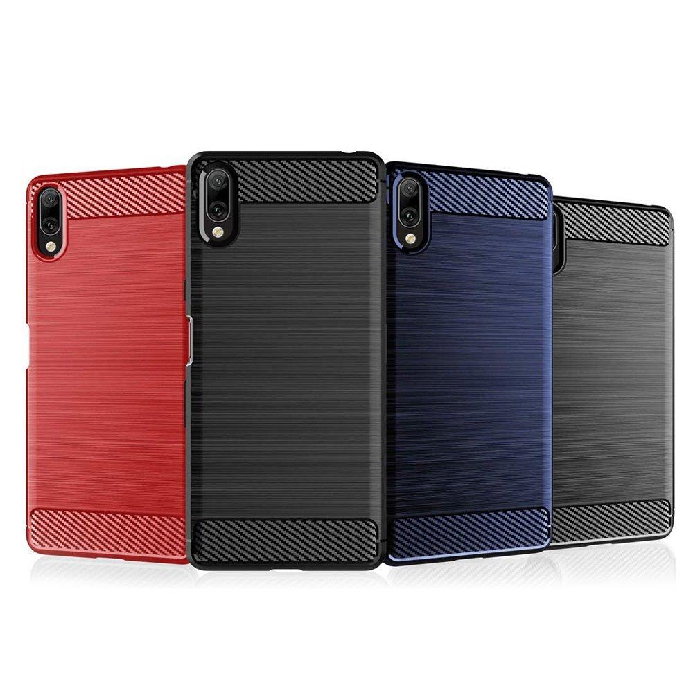 Carbon silikonové pouzdro pro Xiaomi Redmi 7A blue
