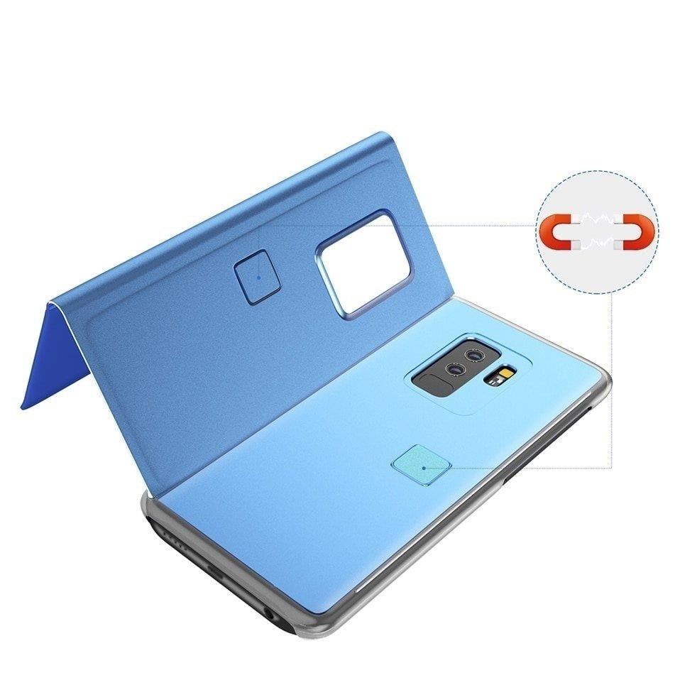 Knížkové pouzdro pro Huawei Y7 2019 / Y7 Prime 2019 blue s průhlednou přední stranou