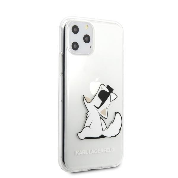 Karl Lagerfeld KLHCN58CFNRC hard silikonové pouzdro iPhone 11 Pro transparent Choupette fun