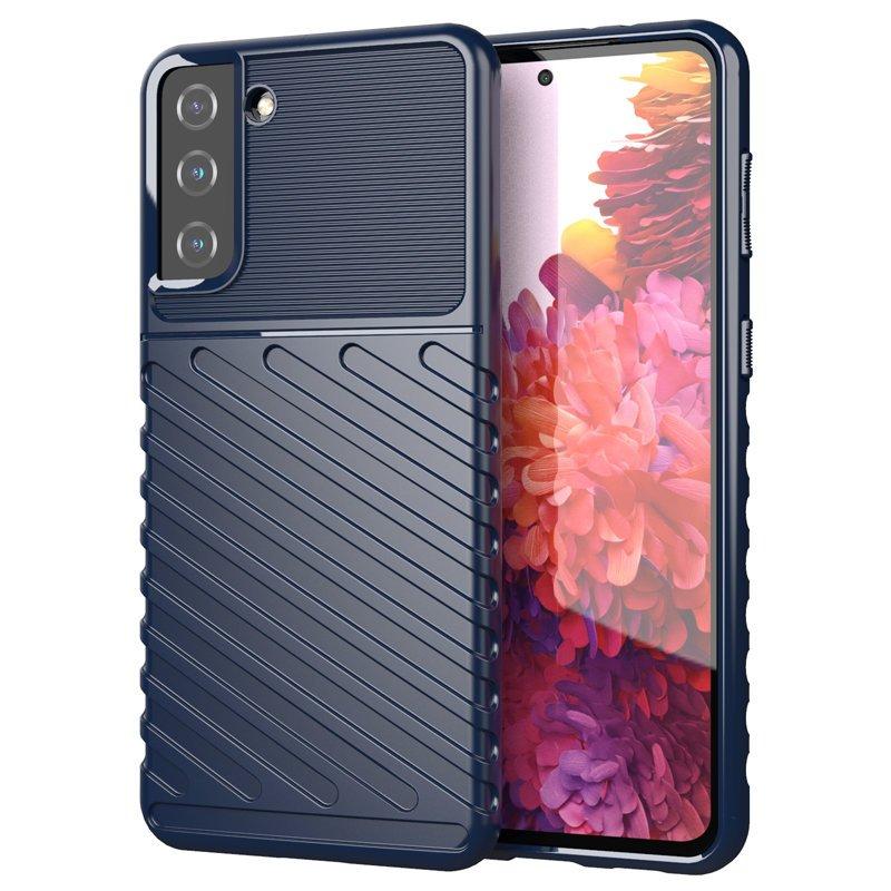 Thunder silikónové puzdro pre Samsung Galaxy S21 PLUS 5G blue