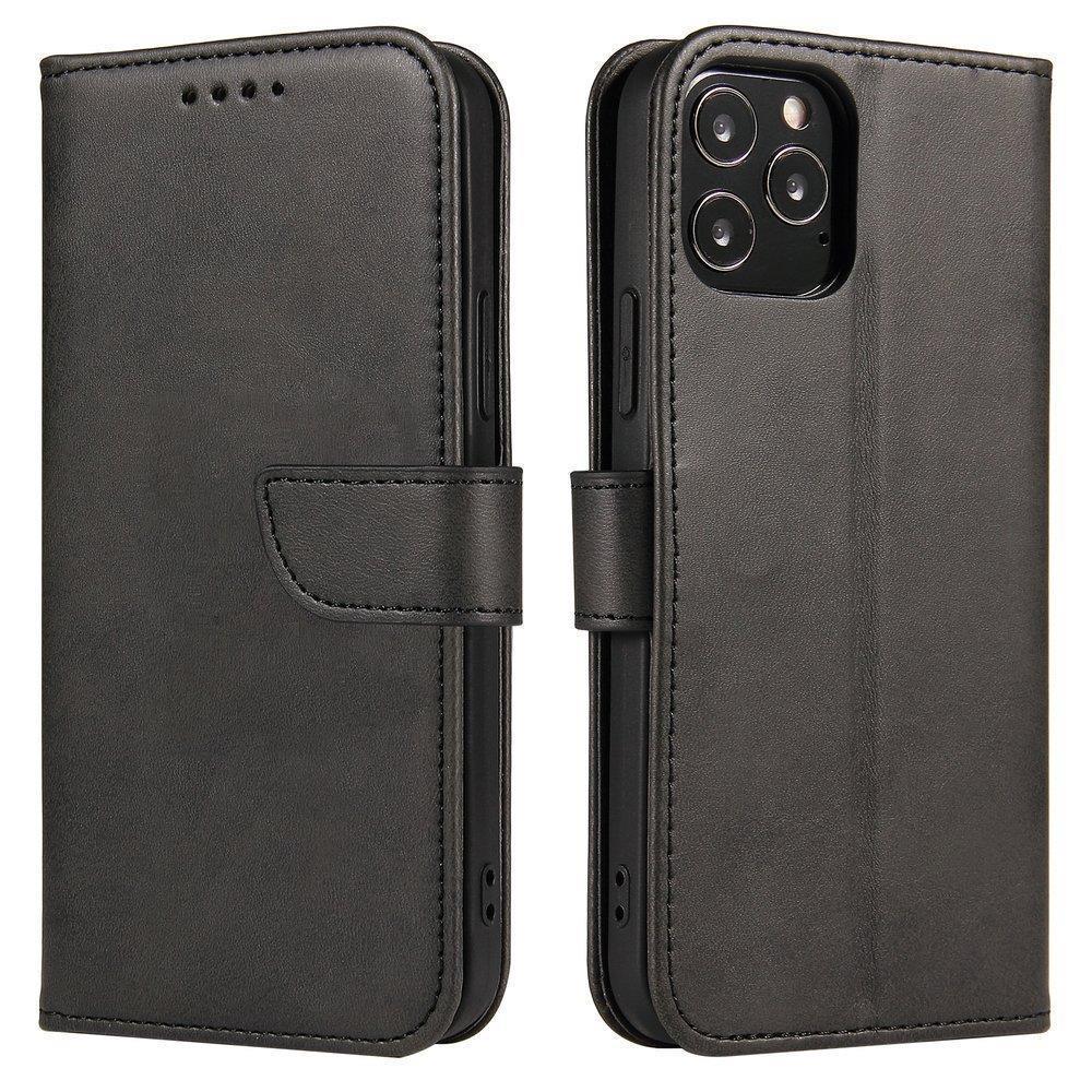 Kožené flipové pouzdro Magnet Case pro  Samsung Galaxy A12 / Galaxy M12 , černá 9111201934979