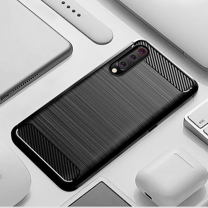Carbon silikonové pouzdro pro Xiaomi Mi A3 / Xiaomi Mi CC9E black