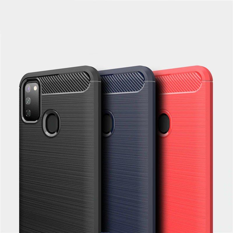 Carbon silikónové puzdro pre Samsung Galaxy M21 black