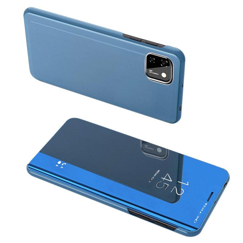 Knížkové pouzdro na Huawei Y5p blue s průhlednou přední stranou