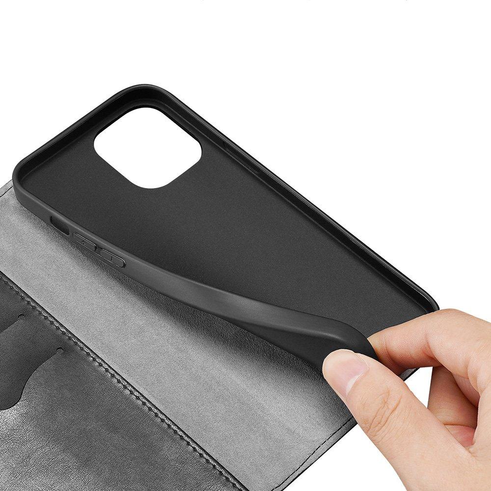 """Dux Ducis Kado eko kůže knížkové pouzdro na iPhone 12 Mini 5.4"""" black"""
